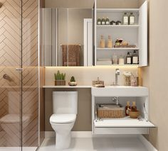 Minimalist Bathroom Design, Bathroom Design Luxury, Modern Bathroom Design, Home Interior Design, Small Bathroom Plans, Small Toilet Room, Wc Decoration, Bathroom Design Inspiration, Apartment Design