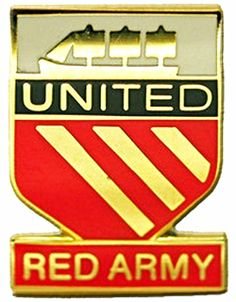 RED ARMY Manchester Shield Metal Badge