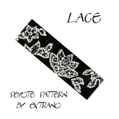 Peyote Bracelet Pattern by Extrano -  LACE - 4 colors only - Instant download by Extrano on Etsy