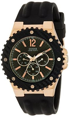 7506f78c58fe9 awesome Guess (GVSS5) Men s Quartz Watch with Black Dial Analogue Display  and Black Rubber
