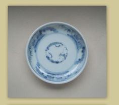 Japanese-Imari-Porcelain-Sometsuke-Blue-White-Small-Plate-Edo-Period