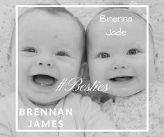Twin baby names- Brennan James, Brenna Jade