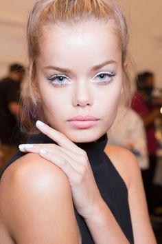 Frida Aasen backstage at Nanette Lepore Spring 2015 Ready-To-Wear, New York Fashion Week