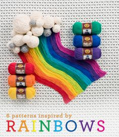 6 of our favorite rainbow knit & crochet patterns!
