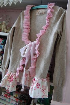 Valentine's Day Cashmere Sweater Altered Couture by OfLinenandLace, $72.50
