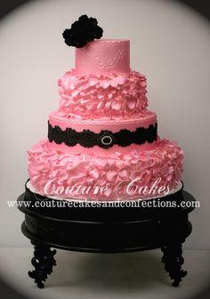 Pink Ruffled Cake