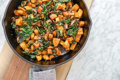 Potato, Mushroom and Kale Hash Skillet   Vegan   Gluten-Free