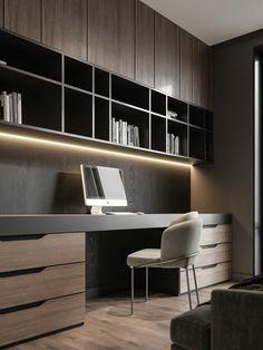 Study Room Design, Home Library Design, Office Interior Design, Office Interiors, House Design, Office Cabinet Design, Medical Office Interior, Interior Designing, Exterior Design