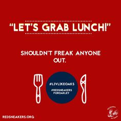 "‪""Let's grab lunch"" shouldn't freak anyone out. #foodallergies #foodallergyawareness #redsneakersforoakley #livlikeoaks #lunch #red redsneakers.org‬"