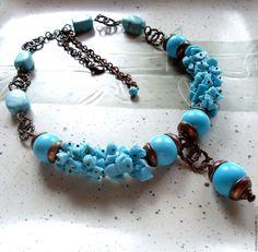 """Купить Колье """"Бирюза4"""" - украшения ручной работы, подарок, красивое украшение, женственное украшение, стиль"""