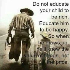 Educate your child to be happy