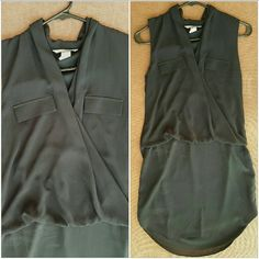 NWOT  Black Dress New Never Worn!! Black Dress, lightweight Chiffon fabric with polyester lining. Clean No stains Non smoking home! H&M Dresses