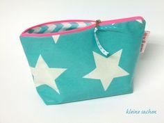 Schminktasche Giant Star Azur Oilcloth Neon Pink