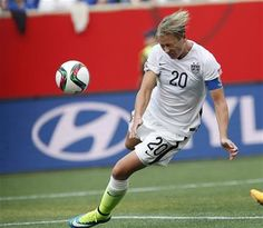 FILE - In this June 8, 2015, file photo, United States' Abby Wambach's (20) header goes wide against Australia during the first half of a FIFA Women's World Cup soccer match in Winnipeg, Manitoba, Canada. (John Woods/The Canadian Press via AP) MANDATORY CREDIT ▼15Jun2015AP|Starter or sub? Abby Wambach says she just wants to win http://bigstory.ap.org/article/dfde64f21a6e42a4aea5c1ebbaff3de4 #2015_FIFA_Womens_World_Cup #Group_D_United_States_vs_Australia #Abby_Wambach