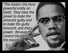 media - Malcolm X.