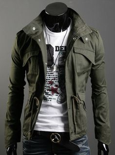Free Shipping New Slim Sexy Top Designed Mens Jacket Coat Colour:Black,Army green,Gray-in Jackets from Apparel & Accessories on Aliexpress.com