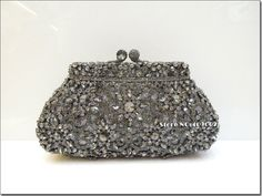 2014 In Free Shipping Crystal flower Metal Evening Wedding Bridal Party Purse Clutch  Retro Style Bag Fashion Luxury Mini Bags