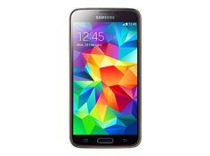 SAMSUNG Galaxy S5 arany SM-G900F 16GB kártyafüggetlen okostelefon