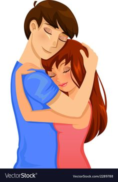 Couple hugging vector image on VectorStock Cute Love Pictures, Love Images, Girl Pictures, Good Night For Him, Night Love, Good Morning Hug, Good Morning Texts, Psycho Girl, Guy Friends