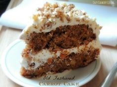 Bake your family this delicious Old Fashioned Carrot Cake!