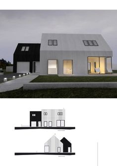 Residential Architecture, Interior Architecture, Roof Design, House Design, Style At Home, Modern Barn House, Shed Homes, Building A House, Construction