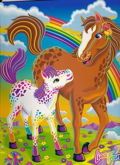 Lisa Frank Rainbow Chaser and Lollipop Portfolio