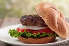"""Oz-ified Chia Burger With Acai Special Sauce, Spicy Home-Cured Pickles and Asparagus """"Fries"""""""