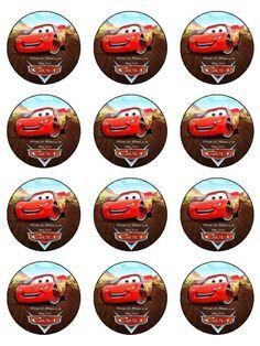 12 Taza De Disney Cars Comestible Glaseado Magdalena Pastel de imagen Toppers Decoración de Pasteles