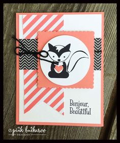 Foxy Friends Stamp Club July Project and Class to Go (Pink Buckaroo Designs)