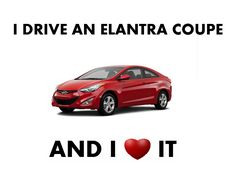 I DRIVE AN #ELANTRA #COUPE  AND I <3 IT