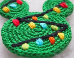 Christmas Ornament Mickey Mouse Minnie Mouse crochet pattern, Christmas tree, Christmas decoration