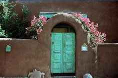 i love the architecture in santa fe, THE DOORS ARE AMAZING!