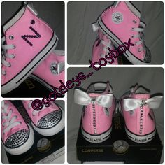 Bedazzled Converse AllStar sneakers by GoldeysToybox on Etsy, $50.00