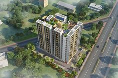 """Aerial View of Magnificent Building of """"Sunshine Aditya"""""""