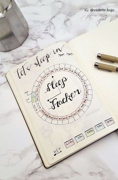 Le Bullet Journal: Ressources & Inspirations | Sleep Tracker | Journaling Inspiration
