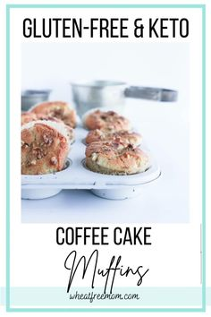 These gluten-free, low carb and keto coffee cake muffins are filled with swirls of cinnamon and sweetness. An easy to make muffin recipe that is great for breakfast, afternoon snack or anytime you need a healthy treat. Gluten Free Recipes For Breakfast, Gluten Free Muffins, Gluten Free Breakfasts, Gluten Free Cooking, Muffin Recipes, Low Carb Recipes, Coffee Cake Muffins, Cinnamon Muffins, Low Carb Sweeteners