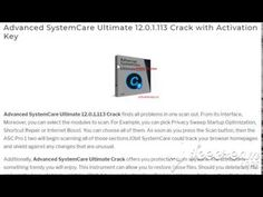 advanced systemcare ultimate 12.0.1.113 crack torrent
