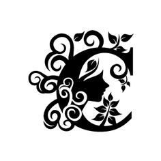Flower Clipart - Black Alphabet C with White Background   Download Free Flower Clipart, Designs, Gallery, Web Arts, Graphics, Images and Vector