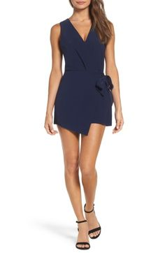 Free shipping and returns on Adelyn Rae Macy Tie Romper at Nordstrom.com. A cool merging of tailored styling and flirty details gives this sleeveless, faux-wrap romper must-have status and makes it an essential for your night-out plans.