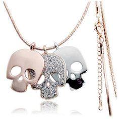 Sugar Skull Female Necklace - Skullflow    https://www.skullflow.com/collections/skull-necklaces/products/sugar-skull-female-necklace