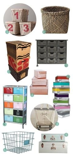 10 Alternatives to Plastic Storage Bins (RH Baby & Child, IKEA, House Industries, Hobby Lobby, Muhs Home, Amazon, Twenty Gauge, Anthropologie, Not on the High Street, Urban Outfitters)