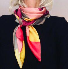 Cashmere Silk Scarf - Color Field Black Dot by VIDA VIDA 0Zc35