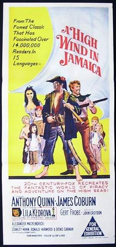 HIGH WIND IN JAMAICA Daybill Movie poster Anthony Quinn