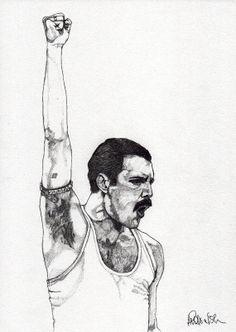 Freddie Mercury 2  Original Signed Paul by ExpeditionaryClub, $120.00