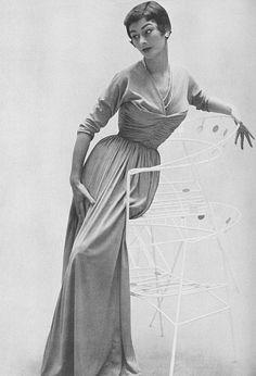Anne Gunning modeling, 1953.  For Vogue.