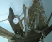 Wall ship clock driftwood