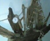 Wall ship clock driftwood