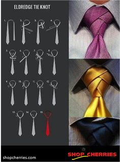 Be a style icon to everyone! Try this super-fancy Eldredge tie knot. Stay tuned with Shop Cherries for more interesting updates! ~ http://www.shopcherries.com/
