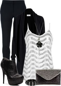 This Pin was discovered by ♡♡Pamela♡. Discover (and save!) your own Pins on Pinterest. | See more about black white, party outfits and polyvore.