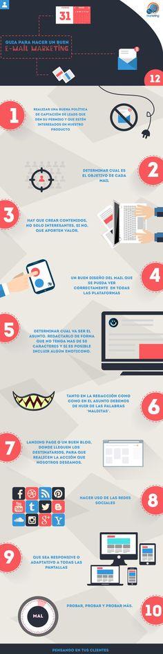 Guía para hacer buen Email Marketing #infografia #infographic #marketing